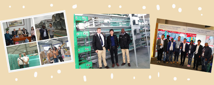Our customers in our poultry farming equipment machinery.