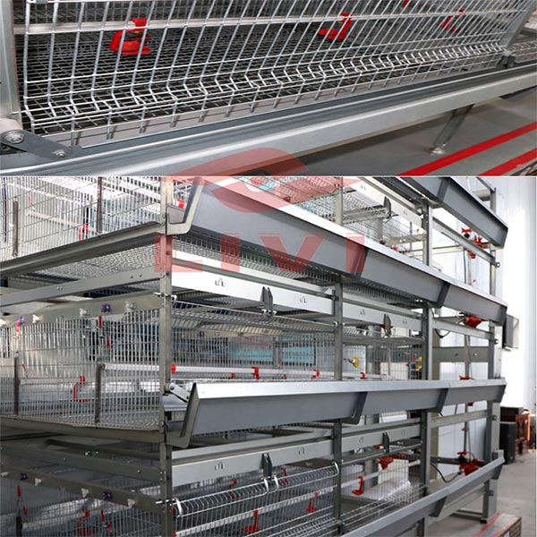 H-type battery cages